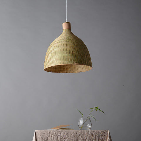 bamboo wood ceiling light