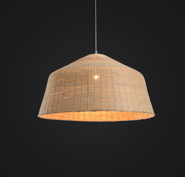 Large Handcrafted Bamboo Pendant Lamp