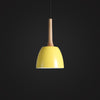 Yellow Scandinavian loft style ceiling lamp bedroom decor