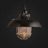 black vintage cage glass pendant lamp kitchen lighting