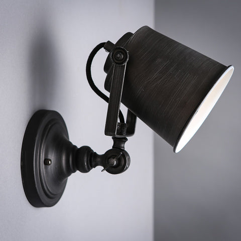 vintage industrial black wall light