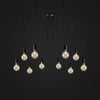 black vintage Chandelier Lights decorative bulbs