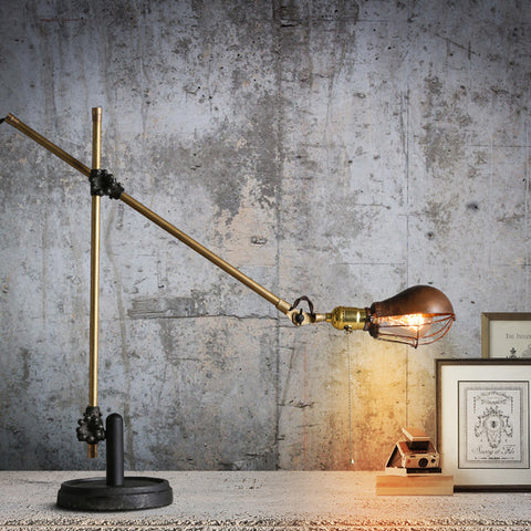 industrial vintage two arms table lamp