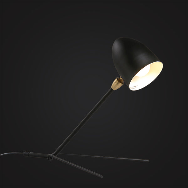 black simple desk lamp interior design Scandinavian home decor