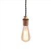 vintage industrial dark copper edison bulb pendant light