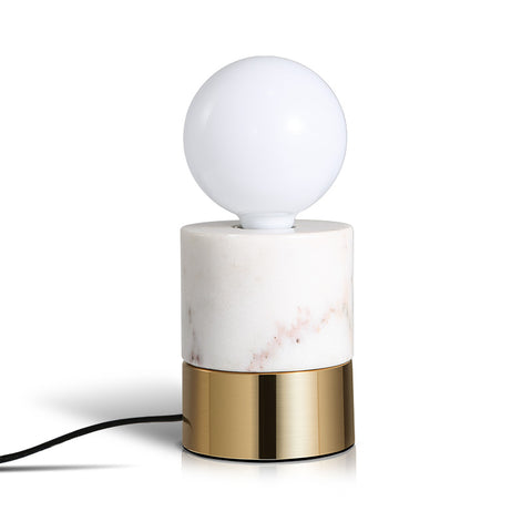 White marble Modern table lighting home decoration