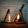 vintage wood edison desk lamp