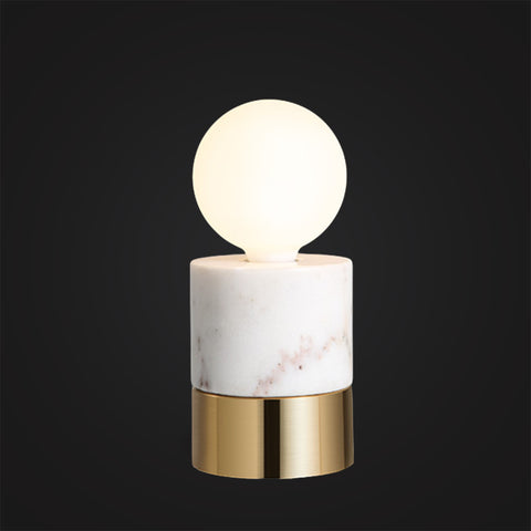 White marble Scandinavian Modern desk lamp Bedroom Edison Lighting