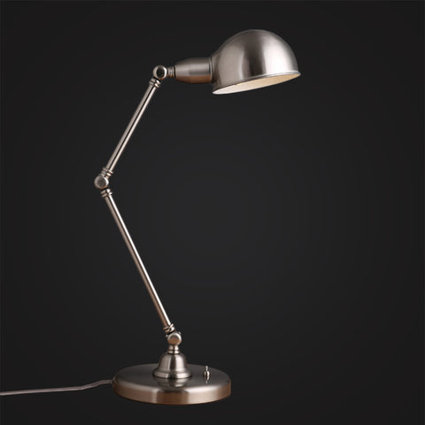 silver industrial desk lamp working table interior lighting