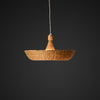 Bowl Bamboo and wood pendant lamp