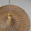 Bowl Bamboo and wood ceiling lamp
