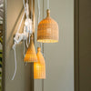 modern bamboo and wood pendant lamp restaurant decoration