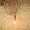 Manila hawser rope edison light