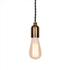 retro brass edison bulb socket hanging lamp pendant light
