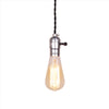 industrial silver Screw lamp holder edison bulb pendant