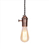 vintage rose Screw copper bulb holder Edison pendant lamp