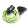 green flex cable fabric cord coloured edison pendant lamp kit