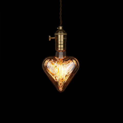 Edison Light Bulb Love Heart Shape Gift