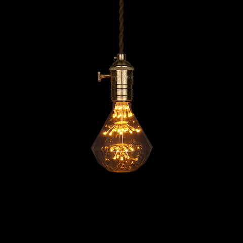 vintage modern led diamond edison pendant lamp