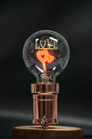 love vintage wood desk lamp table lighting gift