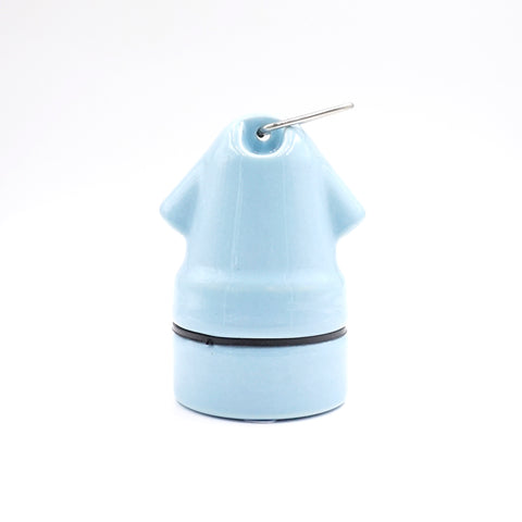 Blue Porcelain Mushroom Lamp Holder
