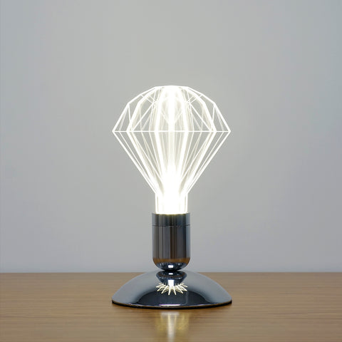 modern diamond URI LED light bulb desk lamp lighting fixture