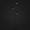 modern large black floor lamp