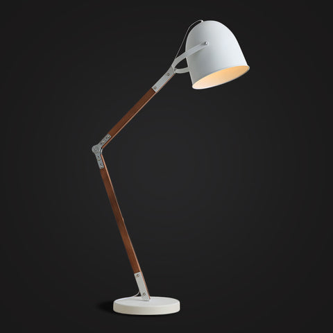 white modern industrial floor lamp