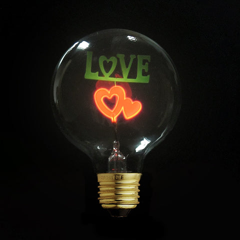I love you Edison Night Light Bulb