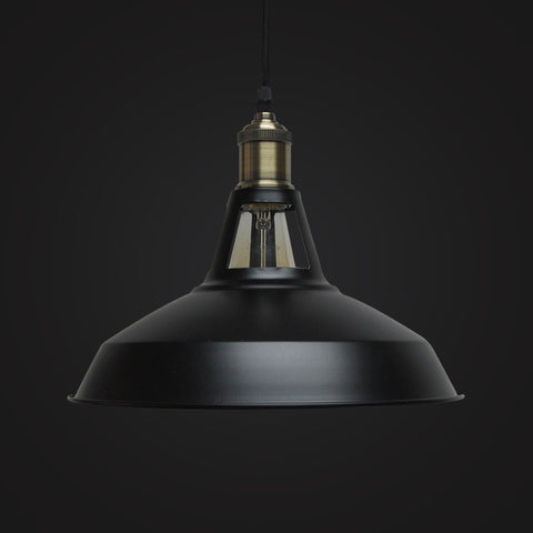 black vintage industrial pendant lamp kitchen lighting