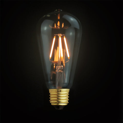 vintage led edison filament teardrop light bulb