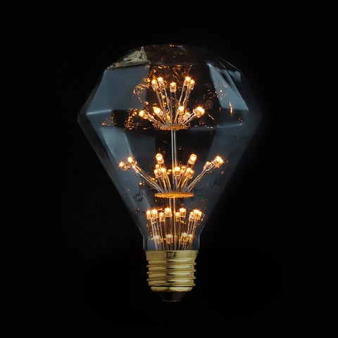 Vintage Diamond Edison LED bulb lamp fixture