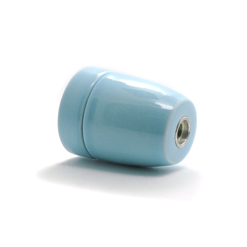 Blue E27 Porcelain lamp socket loft style fitting
