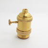 E27 Brass Copper Keyed Lamp Holder
