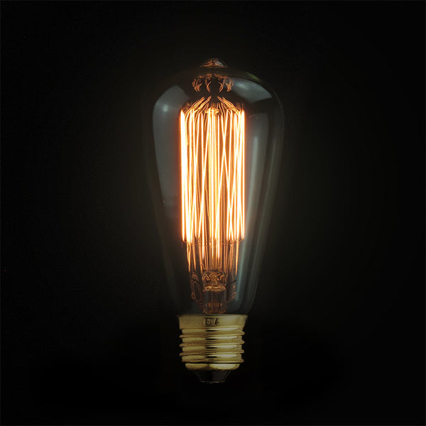 edison filament teardrop light bulb E27