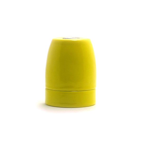 yellow E27 Porcelain lamp holder, Drop lighting fixture