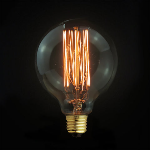 Edison small globe bulb ceiling light fixture