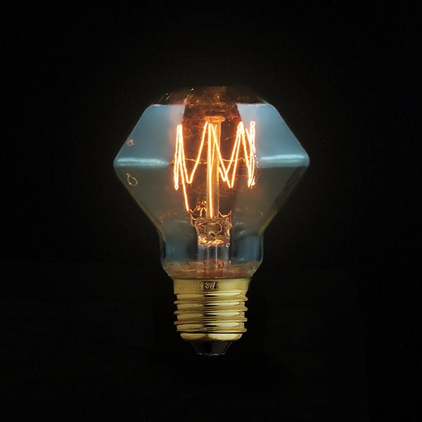 E27 diamond edison light bulb
