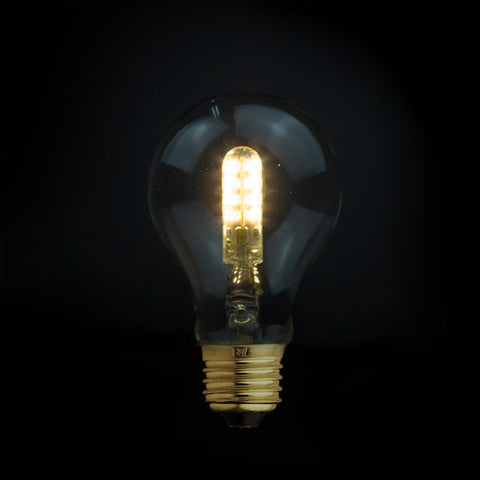 small globe led edison filament light fixture
