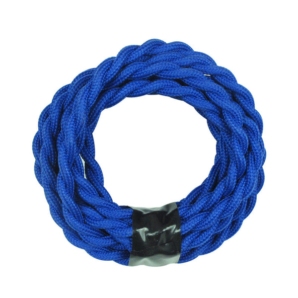 blue twisted flex cable electrical cord lamp