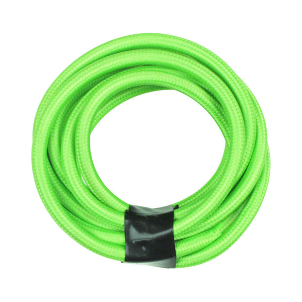 green flex cable fabric cord coloured pendant