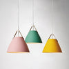 colorful hanging lamp interior design