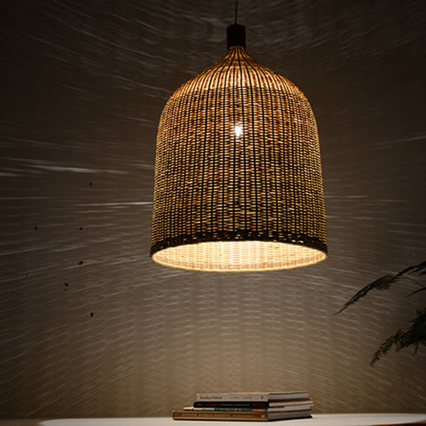 modern bamboo and wood hanging lamp home decoration