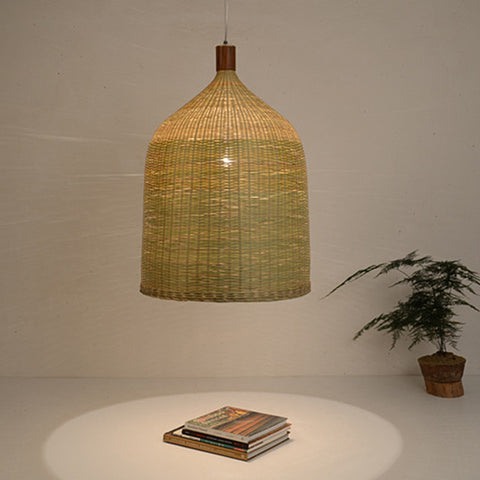 modern bamboo and wood pendant lamp home decoration