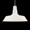white vintage industrial pendant lamp edison lighting
