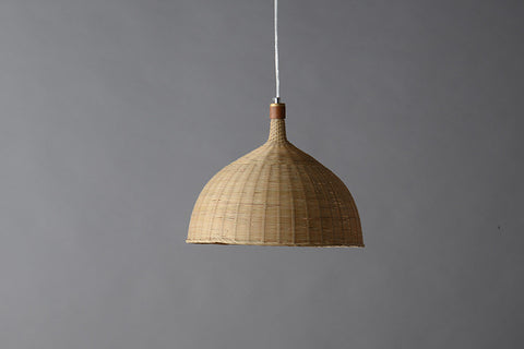 modern wood and bamboo pendant light
