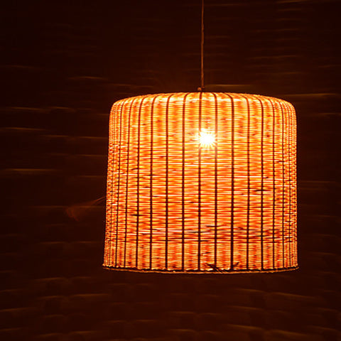 modern bamboo wood ceiling lamp