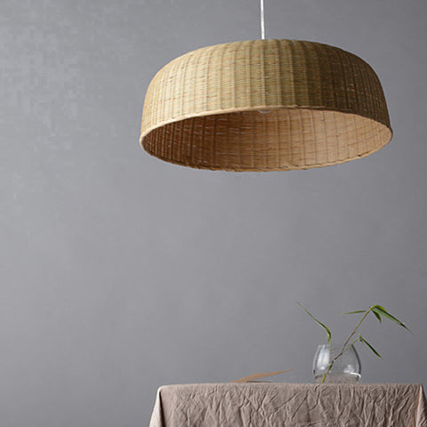 modern bamboo wood pendant light