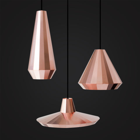 modern polished rose gold hanghing lamp for home decor