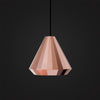 modern polished rose gold pendant for bedroom